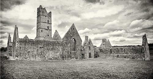 Moyne Abbey on the Wild Atlantic Way